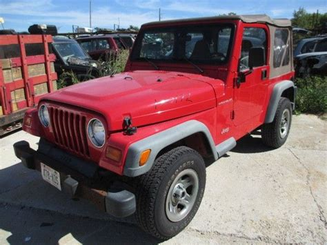 99 Jeep Wrangler Transfer Donor Vehicle