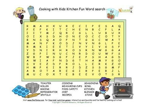 printable word search cooking cooking fun word search puzzle