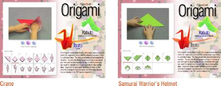 Origami Japanese Paper Folding Web Page - web japan cd rom present