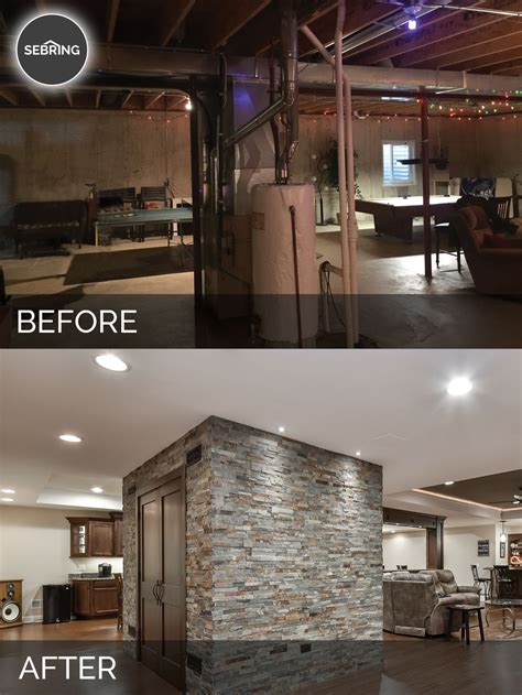 before and after basement brian kelli s basement before after pictures home remodeling contractors sebring design