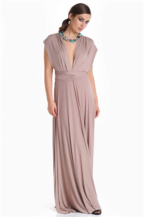 Maxi Mocca iclothing blair multi way maxi dress in mocha iclothing