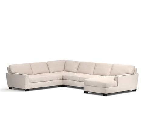 4 piece sectional sofa with chaise turner square arm upholstered 4 piece chaise sectional