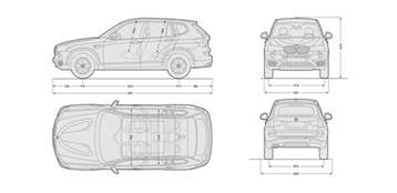 bmw x3 sizes dimensions and towing weights carwow