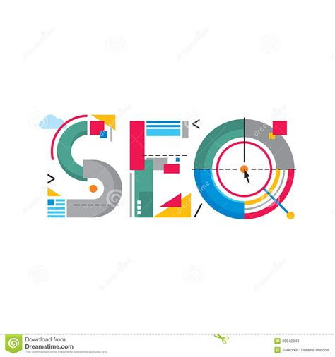 create company logo with word abstract illustration concept seo word logo search