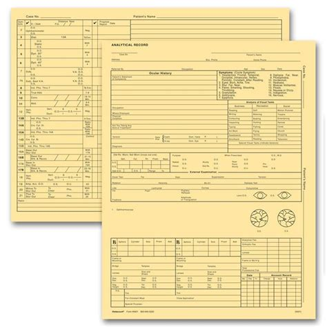 Product Details Designsnprint Optometry Form Template