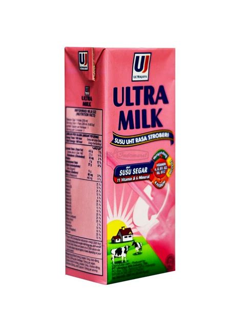 Ultra Milk Slim Plain 200ml ultra uht steril slim strawberry tpk 250ml