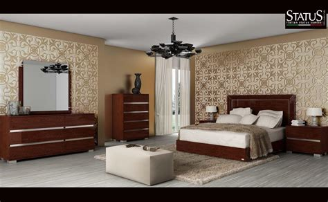 Light Walnut Bedroom Furniture Live King Size Modern Bedroom Set W Led Light Walnut 5 Pc Bed Made In Italy Ebay