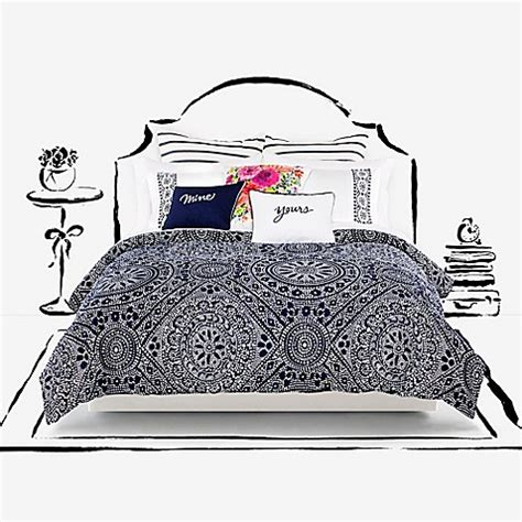 Kate Spade New York Eyelet Medallion Duvet Cover Set Bed Kate Spade Bed Set