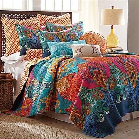 Sprei Barca King Size levatex home madalyn reversible quilt set bed bath beyond