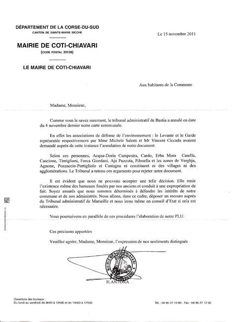 Modèle De Lettre à Un Maire D 233 Lation Calomnie R 233 Quisitoire Le Maire De Coti Chjavari Accuse