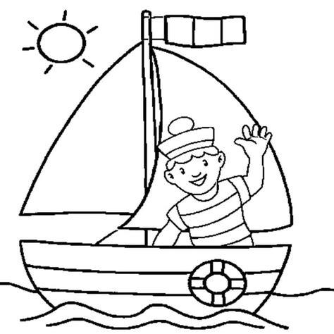 dessin bateau rouge coloriage navire
