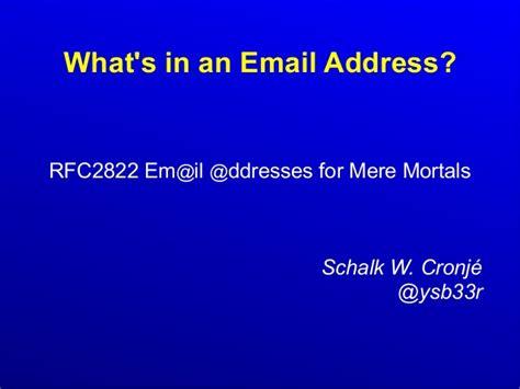 for mere mortals rfc2822 for mere mortals