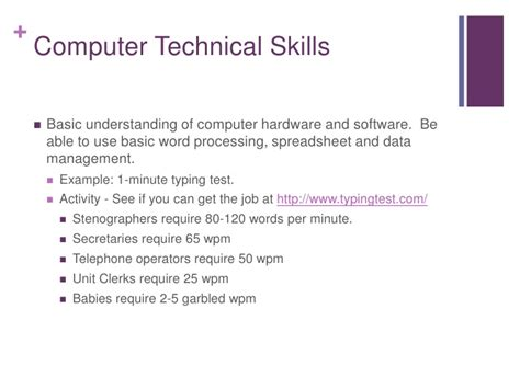 computer technical skills exles images