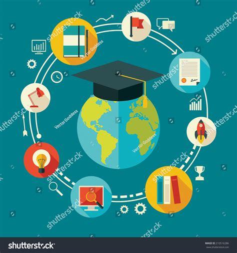 online education illustration flat design illustration flat design vector illustration concept education stock
