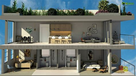 house 2 home design studio 3d floor plan home section view concept yantram