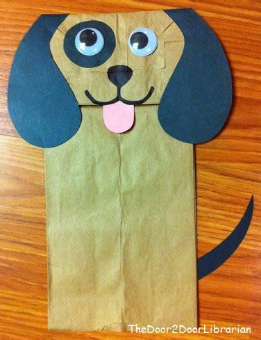 dog puppet pattern paper bag paper bag puppets the door 2 door librarian