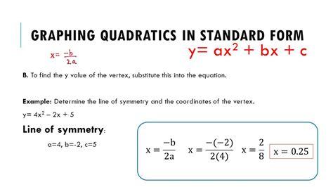 quadtratic relations standard form ppt