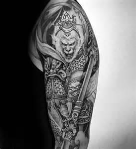 60 monkey king tattoo designs for men sun wukong ideas