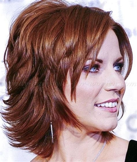 above the shoulder layered hairstyles medium length hairstyles for women over 50 1 dark brown