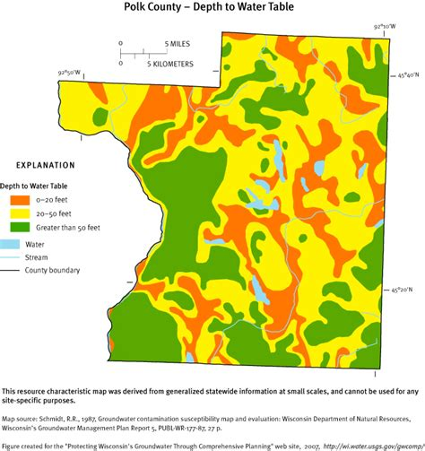 Water Table Map by Protecting Groundwater In Wisconsin Through Comprehensive