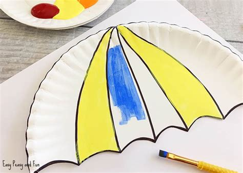 paper plate umbrella craft umbrella paper plate craft weather crafts for