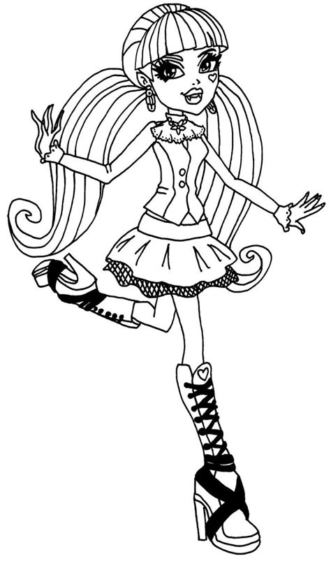 coloring book pages high draculaura high coloring page high