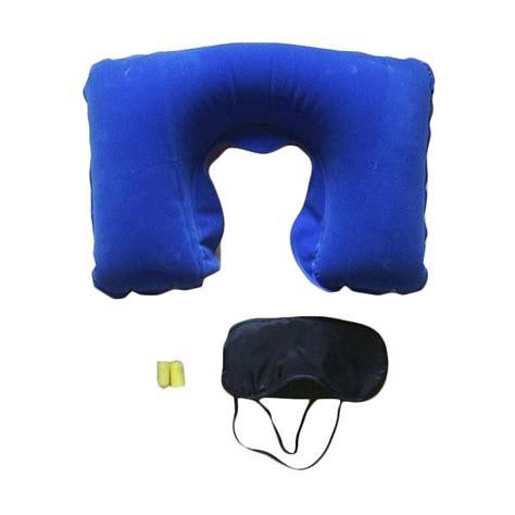 Ostrich Pillow Bantal Leher Penutup Mata Travel jual extreame travel pillow biru perlengkapan travel bantal penutup mata telinga