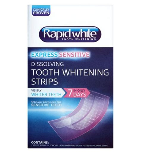 teeth whitening kit strips rapid white  blanc boots