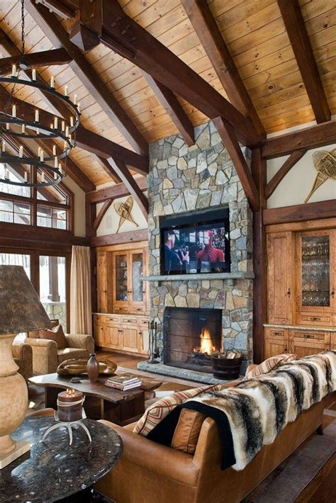 log home interior design ideas 50 log cabin interior design ideas future house pinterest
