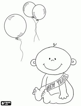new year baby coloring page baby new year new year was born coloring page h new