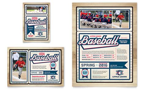 Baseball Card Template Indesign by Baseball League Brochure Template Design