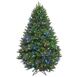 stop and shop prelit christmas trees 7 5 ft pre lit led california cedar artificial tree with color changing rgb lights