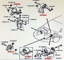 mitsubishi transmission mount   ebay