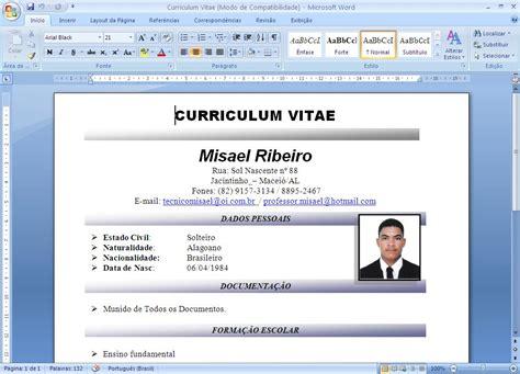 Modelo De Curriculum Vitae Word 2014 Misael Digital Modelo De Curriculum