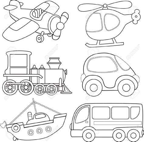 Transportation Coloring Pages And Activity Worksheets Transportation Coloring Pages