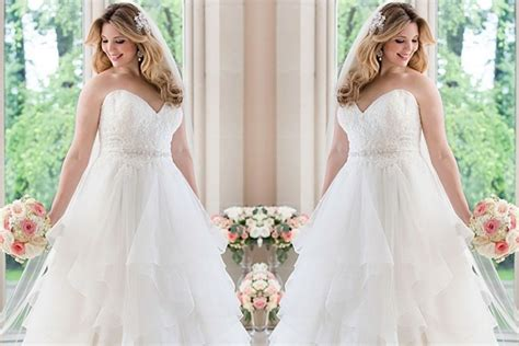 top designers  gorgeous  flattering  sized wedding dresses