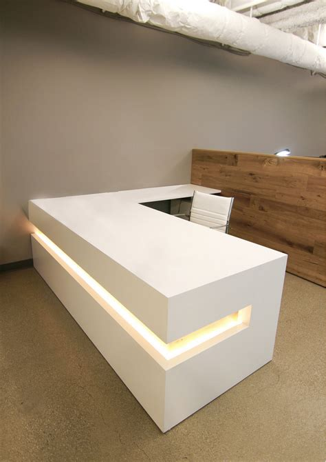 Custom Made Reception Desks Buy A Custom White Lacquer Reception Desk Made To Order From Ironwood Furniture Studio