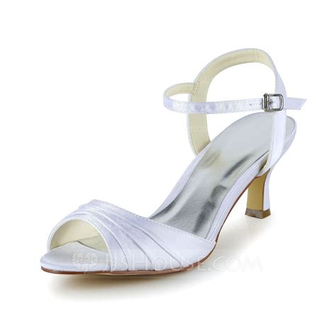 peep toe sandals s satin low heel peep toe sandals with ruched