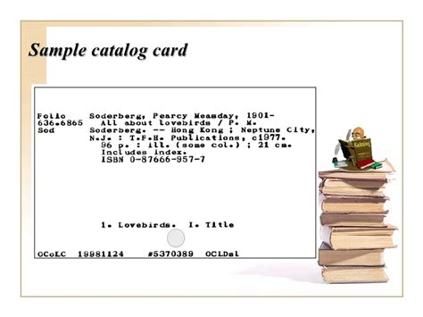 card catalog card template descriptive cataloging overview