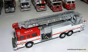 Emergency Dash Lights My Code 3 Diecast Fire Truck Collection Pierce Dash Rear