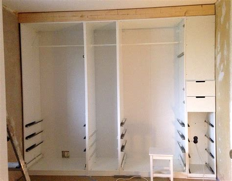 Kitchen Pantry Door Ideas by Built In Pax Wardrobe And Nightstand Ikea Hackers Ikea