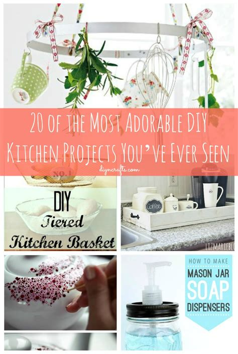 diy kitchen crafts 20 of the most adorable diy kitchen projects you ve