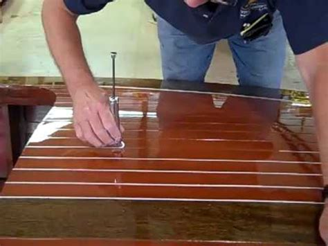 runabout boat mods deck striping of a 1938 18 antique chris craft wooden