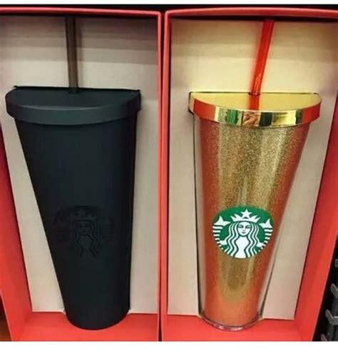 Home accessory: mug, starbucks coffee, gold, travel mug, matte black   Wheretoget