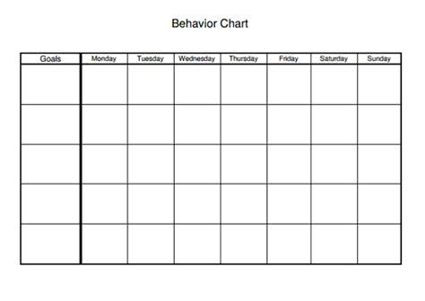 Behavior Modification Log by Behavior Chart Worksheet Therapist Aid