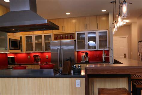 floating bar top contemporary kitchen remodel michaud enterprises llc