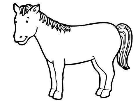 image gallery horse drawings to colour horse template animal templates free premium templates