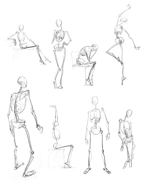 Drawing Figures by Human Figure Poses