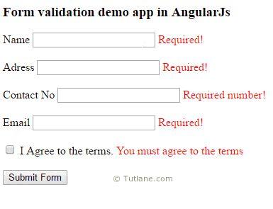 angularjs form validation formget angularjs form validations with exles tutlane