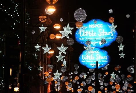 Countdown To Christmas Begins As Oxford Street Lights Lights In Oxford
